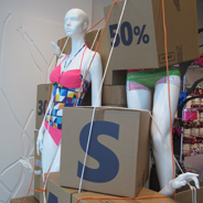 BODY LEAVES<br />Sale Window<br /><br />VISUAL MERCHANDISING